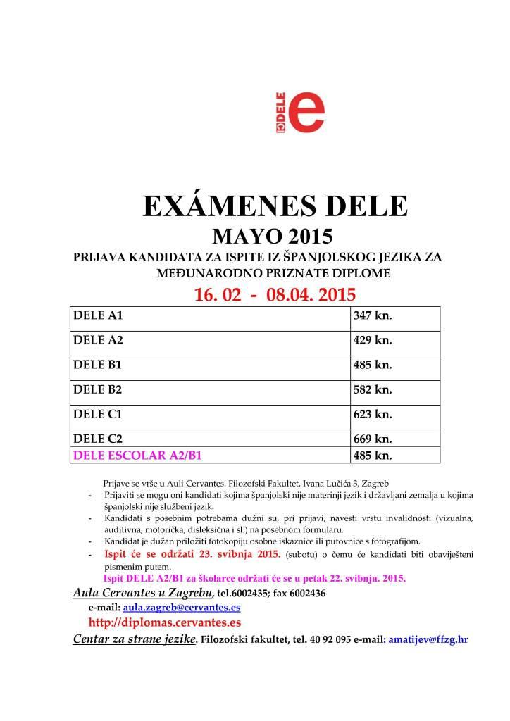 Anuncio exámenes mayo